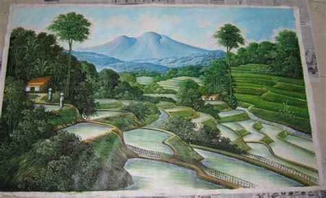 jual beli lukisan pemandangan terasering ubud asli