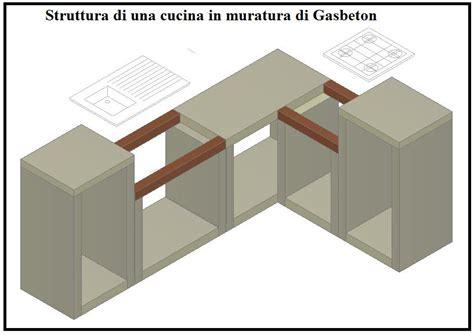 creare una cucina costruire una cucina in muratura con blocchi gasbeton