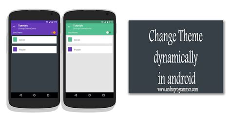 change theme line app runtime dynamically change android application theme