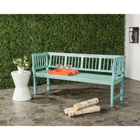 Safavieh Outdoor by Safavieh Brentwood Outdoor Acacia Patio Bench In