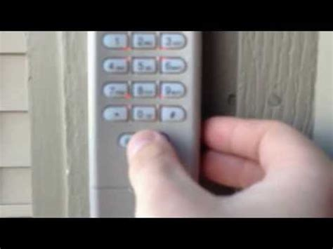 Garage Door Opener Reprogram How To Reprogram A Chamberlain Garage Door Keypad How To Save Money And Do It Yourself