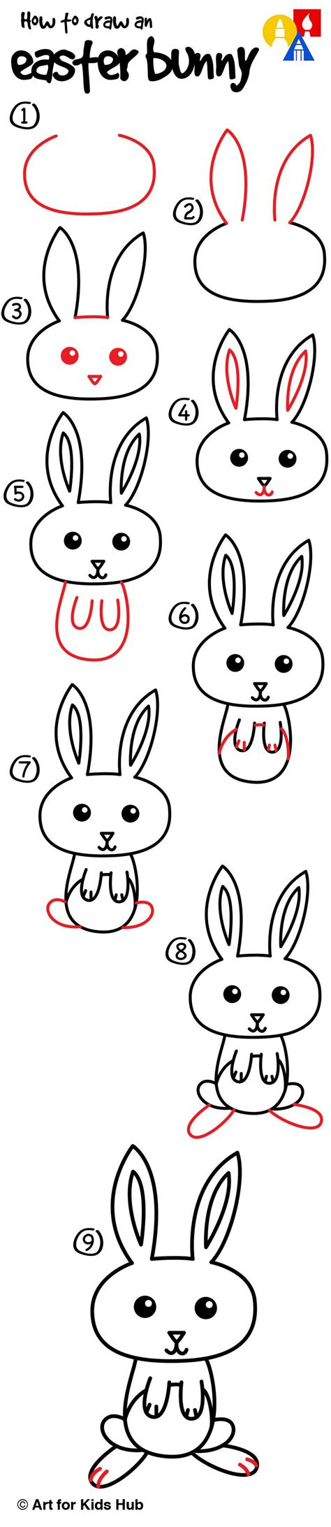 how to draw a doodle bunny how to draw a easter bunny for hub