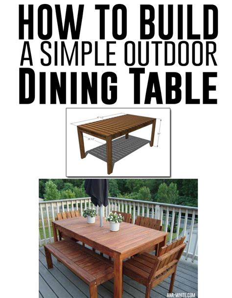 how to build dining table how to build a simple outdoor dining table