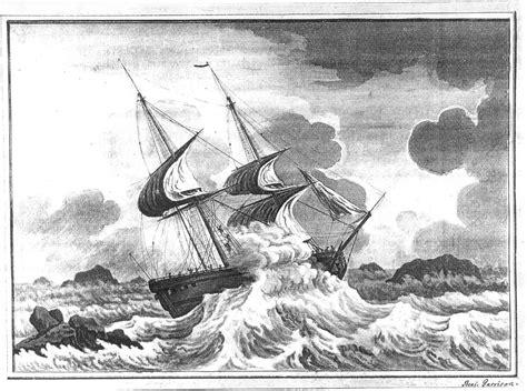 boat crashing drawing the irene