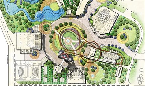 amusement park floor plan master planning and design services wyatt design group