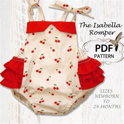 infant pattern video baby pdf pattern romper pdf sewing pattern baby romper