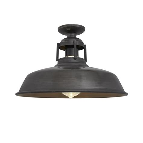 industrial flush mount light vintage industrial barn slotted flush mount ceiling light