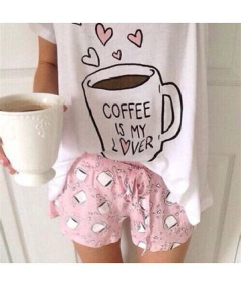 pajamas bedding flowers girly bedding kawaii home pajamas pajamas coffee pyjama shorts hipster it girl