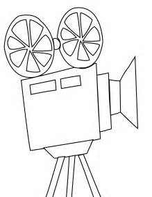 movie projector coloring page handipoints