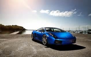 Blue Lamborghini Pictures Blue Lamborghini Gallardo Wallpaper Hd Pictures