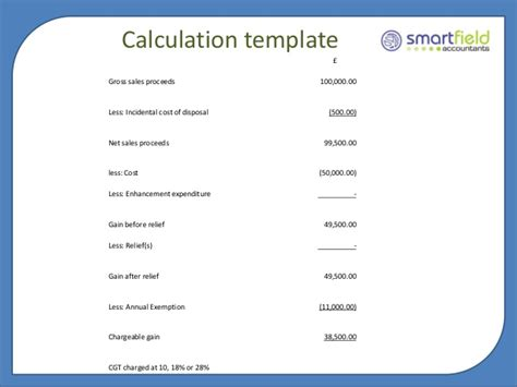 deferred tax calculation template capital gains tax seminar