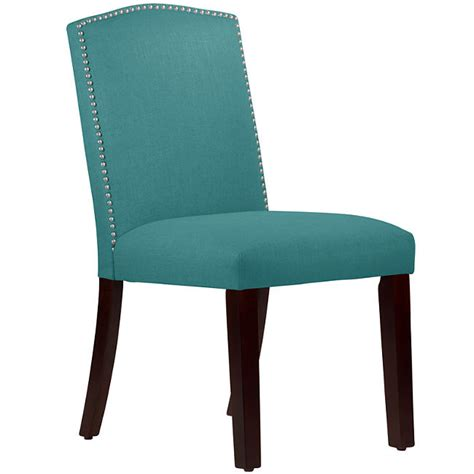 Nailhead Trim Chair by Liesel Upholstered Dining Chair With Nailhead Trim Everything Turquoise