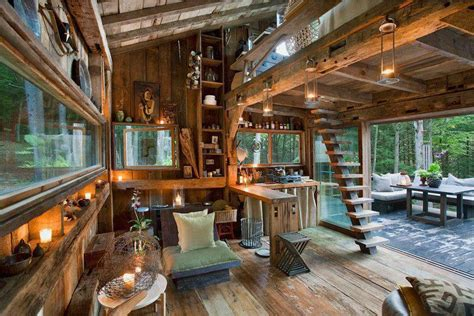 Wood cabin in the forest imgur