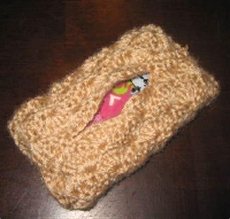 knitting pattern tissue holder travel tissue holder kleenex knit or crochet swap bot