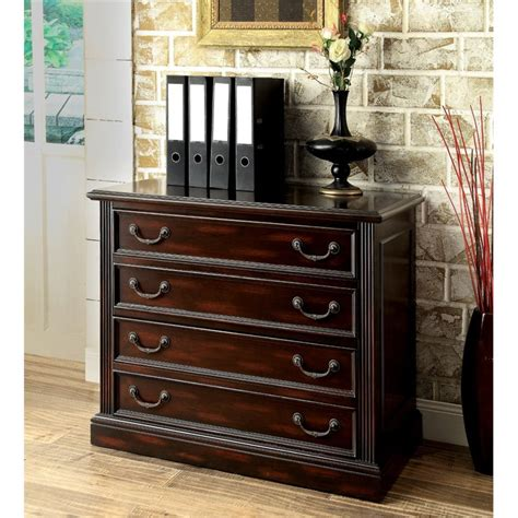 Kurtis Cabinets by Furniture Of America Kurtis Transitional File Cabinet In