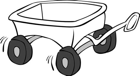 wagon black and white clipart