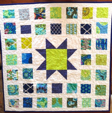 Blue And Green Quilt Handmade Quilt Blue And Green Quilt 46 X 46