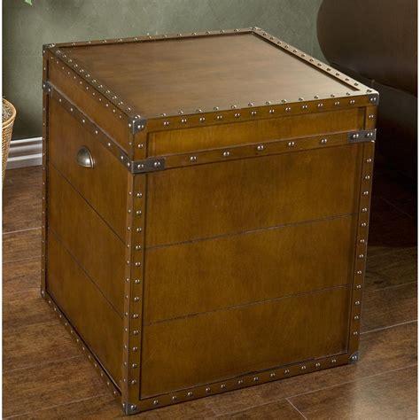 castlecreek gun concealment end table bristol trunk end table 300141 living room at sportsman