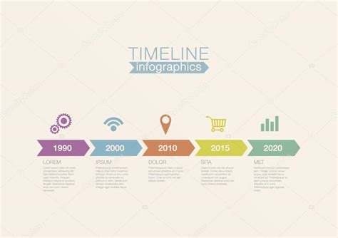 timeline infographics vector design template for financial