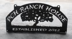 ranch signs 2 ranch signs gates and custom metal art by big creek metal works - Publishers Clearing House Sign Up