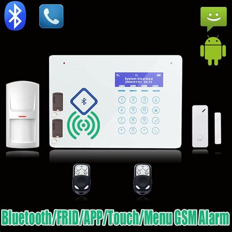 wireless bluetooth home gsm sms alarm system house