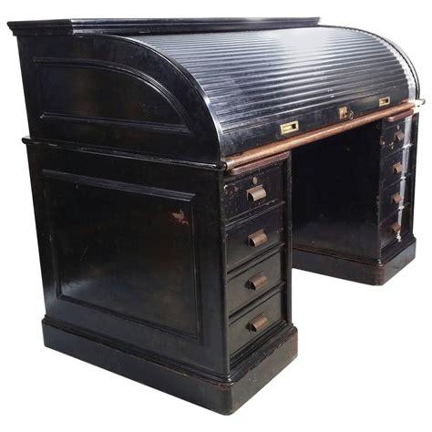 Steel Top Desk by Antique Industrial Steel Roll Top Desk Quarter Sawn Oak