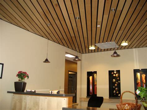 Wood On Ceiling by Wood Ceilings Heartland Acoustics Interiors