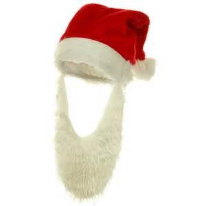 beard santa plush santa hat costume hat