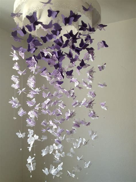 Butterfly Chandelier Mobile Paper Lace Chandelier Monarch Butterfly Mobile By Dragononthefly