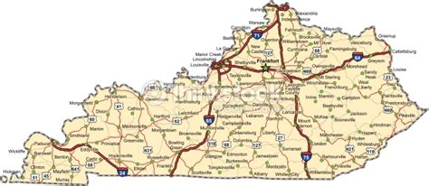 kentucky map interstate interstate map of kentucky map