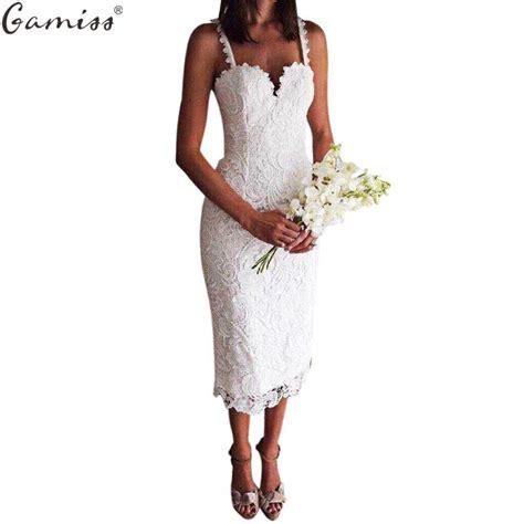 21867 Blackwhite Lace gamiss summer white black lace dress design v neck spaghetti bodycon midi dresses