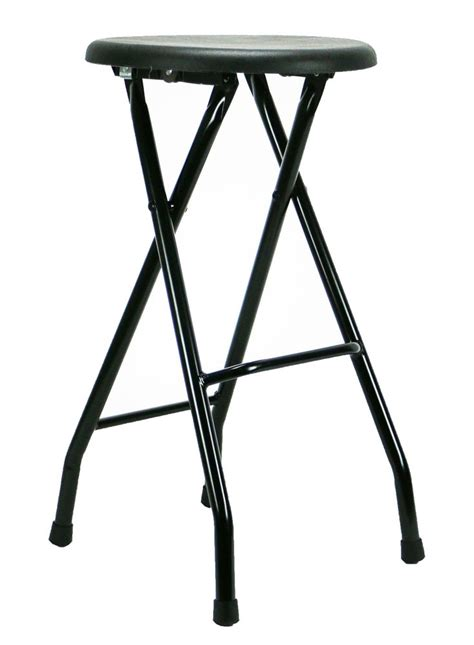 24 Folding Stool With Back by Folding Bar Stool Seat Black Eventstable