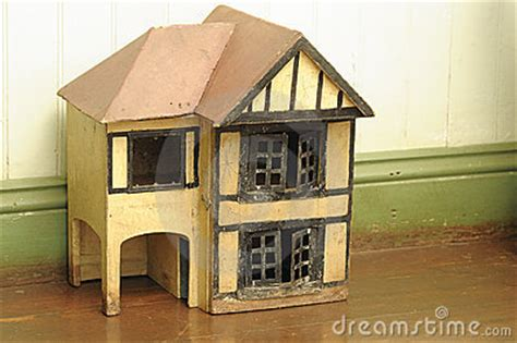 old wooden doll house an old wooden doll house royalty free stock images image 15640329