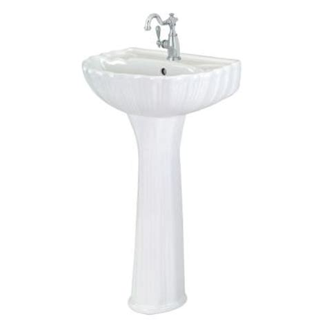 foremost brielle pedestal combo bathroom sink in white fl