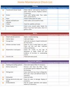 home repair checklist template home maintenance checklist template basic images frompo