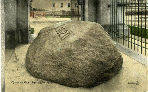 picture of plymouth rock you you re from massachusetts when