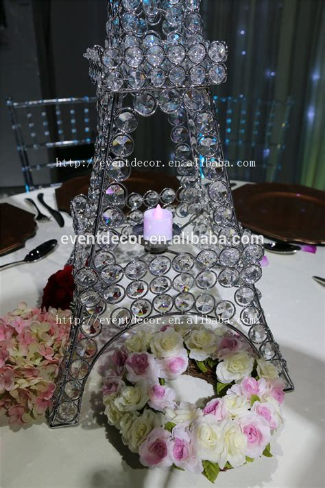 eiffel tower wedding table decorations beaded stand eiffel tower candle holder