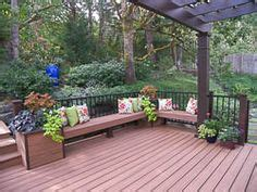Bridge Planter Boxes by Trex Deck With Bridge Benches And Planter Boxes In
