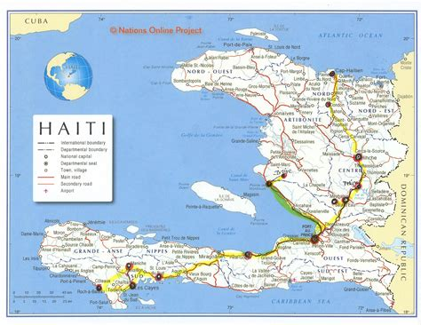 map haiti map of haiti heifer 12 x 12