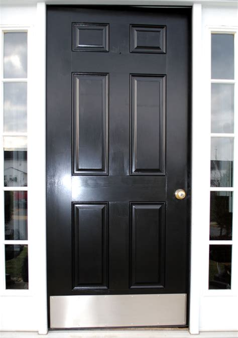 Curb Appeal Front Door Transformation The Graphics Fairy Front Door Kick Plates