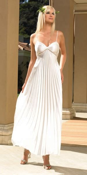 pleated ivory satin gown  long evening dress