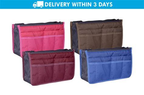 Dual Bag In Bag Organizer Diskon 75 dual bag organizer makeup insert bag promo