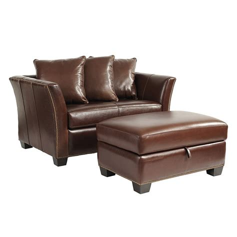 tate leather sleeper and storage ottoman ballard
