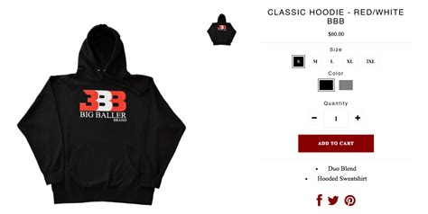 Hoodie Logo Big Baller Brand Bbb lonzo s has a clothing line and he s selling 60