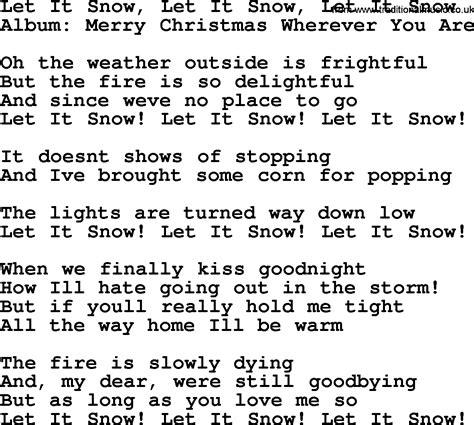 musical let it snow l post let it snow let it snow let it snow by george strait