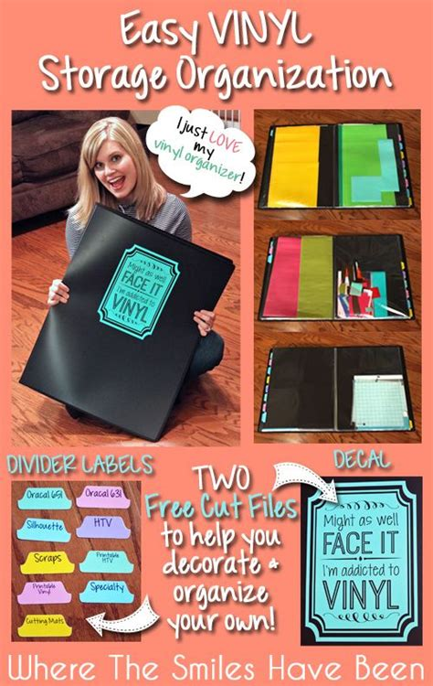 how to organize your silhouette library 17 best images about vinyl storage ideas on vinyls wall mount and window clings