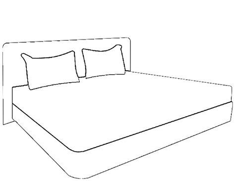 drawing of bed bed 6 objects printable coloring pages