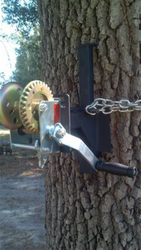 boat winch tree tree hoist ez winch mount for ez feeder hanger hand