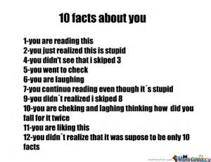 10 facts about you by xico meme center