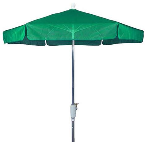 Teal Patio Umbrella 7 5 Foot Hexagonal Teal Base Bright Aluminium Garden Umbrella Outdoor Umbrellas By Vista Stores
